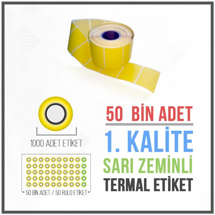 İlaçTarif Etiketi (50.000 Adet) 40mm X 60mm Sarı Zemin Etiket